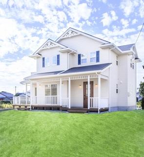 豊川のアメリカンスタイル住宅の写真